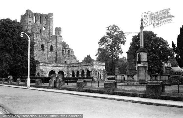 Photo of Kelso, Abbey and Cloisters c1950, ref. k55010