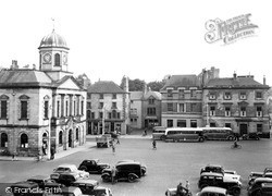 Kelso, The Town Hall And Square c.1955