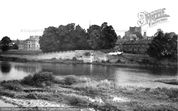 Photo of Kelso, the Tweed from the Bridge c1950, ref. k55003