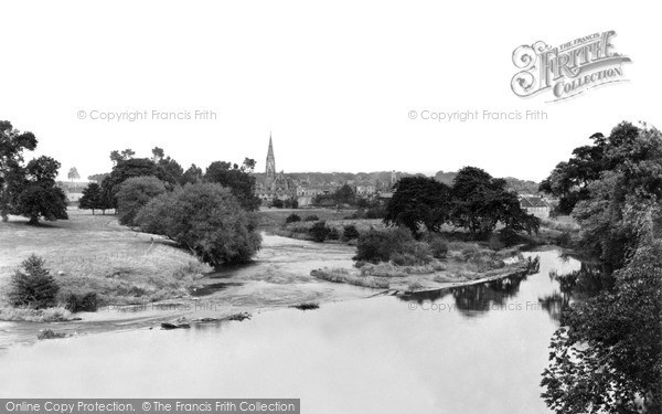 Photo of Kelso, view from Teviot Bridge c1950, ref. k55008