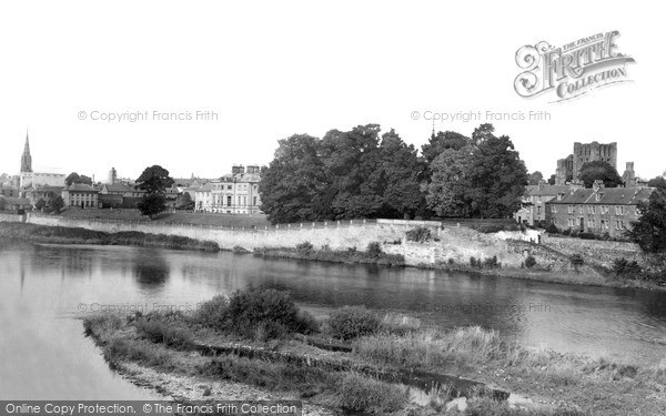 Photo of Kelso, view from the Bridge c1950, ref. k55009