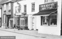 Kelvedon, High Street Butcher And Antiques Shop c.1955