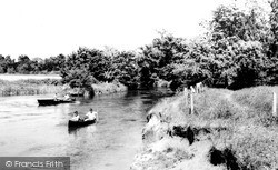 Kempston, Boating On The River c.1965