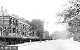 Kempston, the Barracks c1955