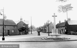 Kempston, The High Street And Memorial c.1955