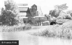 Kempston, The River And Mill c.1965
