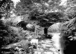 Kendal, John Surgey Painting At Hawes Bridge 1888