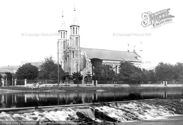 Kendal, St George's Church and the Weir 1891