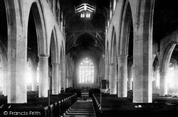 Kendal, The Parish Church Nave 1891