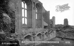 Castle, Banqueting Room, Interior From Mervyn's Tower 1922, Kenilworth