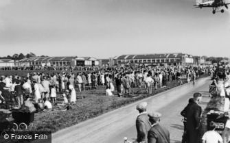 Kenley, the Airfield, Gloster Gauntlet Taking Off c1930