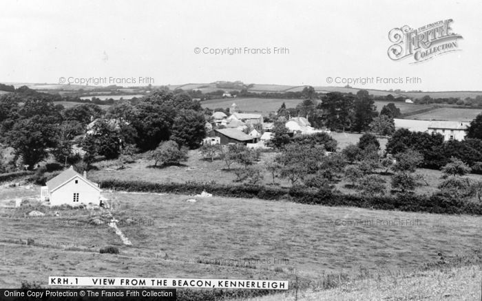 Photo of Kennerleigh, View From The Beacon c.1960