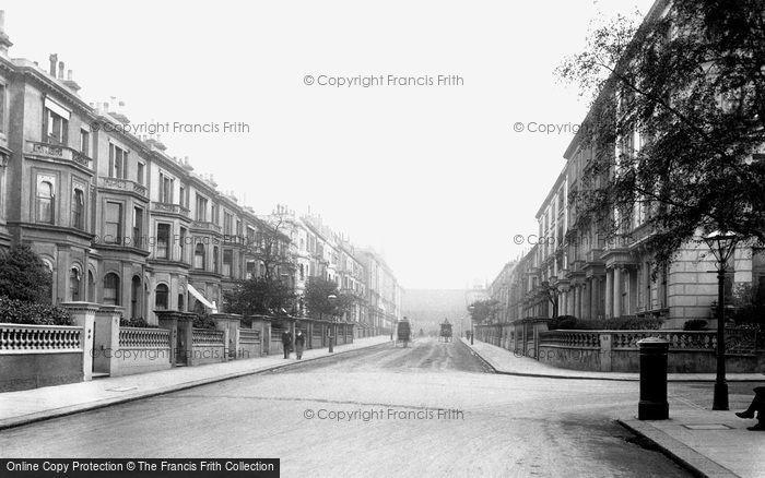 Photo of Kensington, Kensington Palace Gardens Terrace 1906