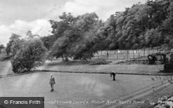 Bowling Green And Tennis Courts, Abbott Hall c.1955, Kents Bank