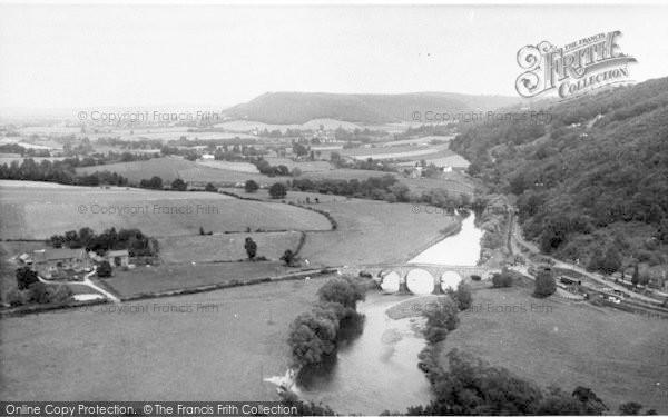 Photo of Kerne Bridge, The River Wye From Coppitt Hill c.1960