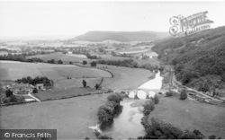 The River Wye From Coppitt Hill c.1960, Kerne Bridge
