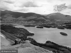 Keswick, And Derwentwater From Cat Bells c.1955