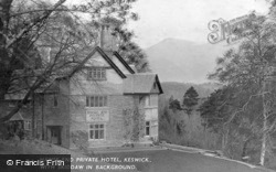 Keswick, Hawse End Private Hotel And Skiddaw c.1955
