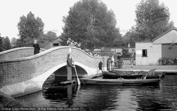 The Bridge, Wicksteed Park c1955, Kettering. The Frith logo will not appear