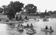 Kettering, The Children's Boating Pool, Wicksteed Park c.1955