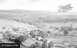 Kettlewell, From Moor End Showing Great Whernside c.1955