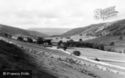 Kettlewell, Looking Up The Dale From Moor End c.1955