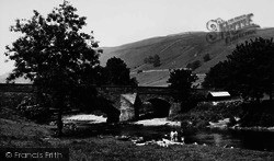 The Bridge And River c.1960, Kettlewell