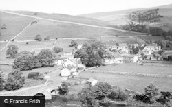 Kettlewell, The Bridge And Village c.1955