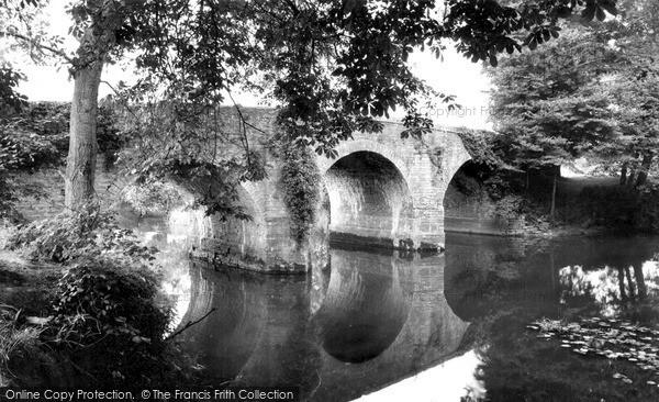 Keynsham, County Bridge from the River Chew c1960