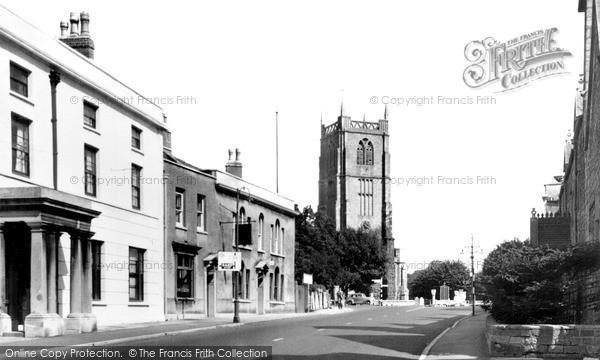 Keynsham, Parish Church and Street c1950