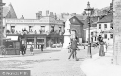Kidderminster, Market Place And Swan Hotel c.1900