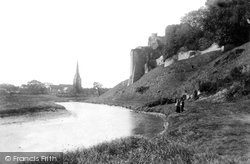 Castle And St Mary's Church 1893, Kidwelly