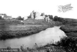 Castle, From River 1893, Kidwelly