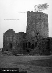 Castle, The Hall Range And South East Tower 1953, Kidwelly