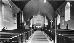 St Mary's Church Interior c.1950, Kidwelly