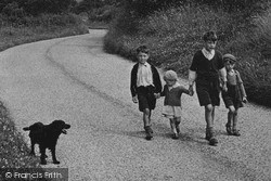 Taking The Dog For A Walk c.1955, Kilburn
