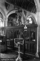 Kilkhampton, Church Interior 1910