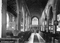 Kilkhampton, Church Interior c.1910