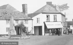 Kilkhampton, Lower Square, Memorial And Stores 1949