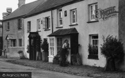 Kilkhampton, Main Street, Sweeping The Pavement 1949
