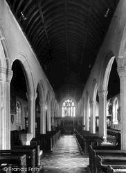 Kilkhampton, St James' Church Interior 1949