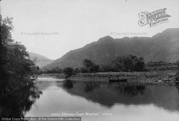 Photo of Killarney, Eagle Mountain From Old Weir Bridge 1897