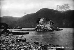Middle Lake, Colleen Bawn Rock 1897, Killarney
