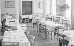 Killerton, The Dining Room, Killerton House c.1950