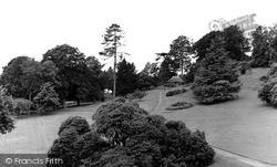 Killerton, The Gardens, Killerton House c.1950