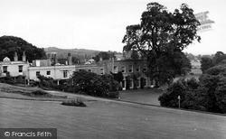 Killerton, The Lawns, Killerton House c.1950