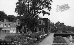 Killerton, The Terrace Gardens, Killerton House c.1950