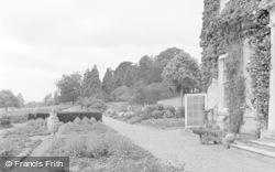 Killerton, The Terrace, Killerton House c.1950