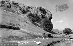 Kilnsey, Kilnsey Crag c.1960