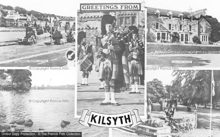 Photo of Kilsyth, Composite c.1950